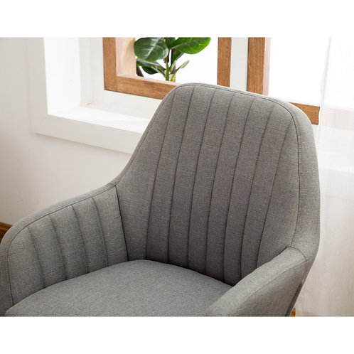 Pleated Fabric Accent Chair
