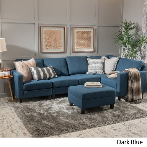 6-piece Fabric Sofa Sectional