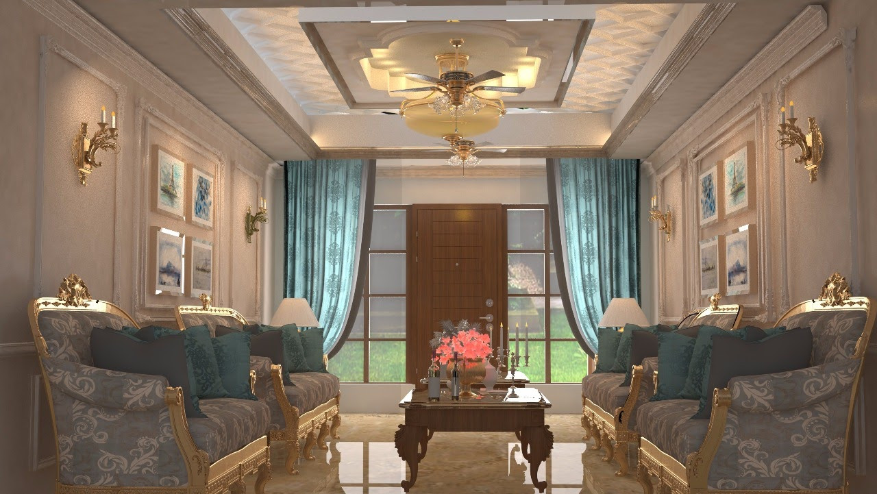 Drawing room design for Dr. Chawla, Panchkula