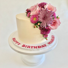 MG Fresh Floral Birthday Cake