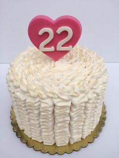 MG Custom Buttercream Ruffle Cake
