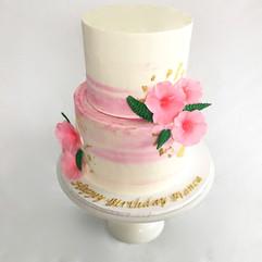 MG Hibiscus Birthday Cake