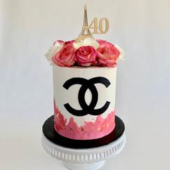 MG Paris Themed 40th Birthday Cake