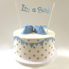 MG Custom Baby Shower Cake polka dots.jp