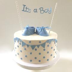 MG Custom Baby Shower Cake polka dots.jp