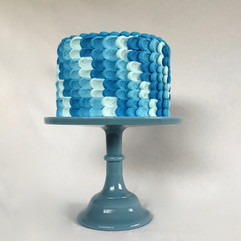 MG Blue Buttercream Petal Cake