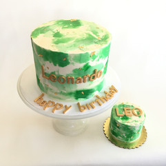 MG Green Watercolor 1st Birthday