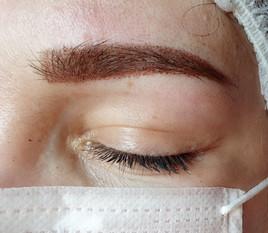 Mix shading et blading des sourcils