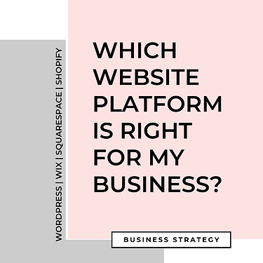 WHICH WEBSITE PLATFORM IS RIGHT FOR MY B