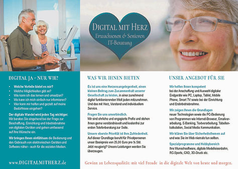 Flyer Senioren IT Beratung Digital mit H