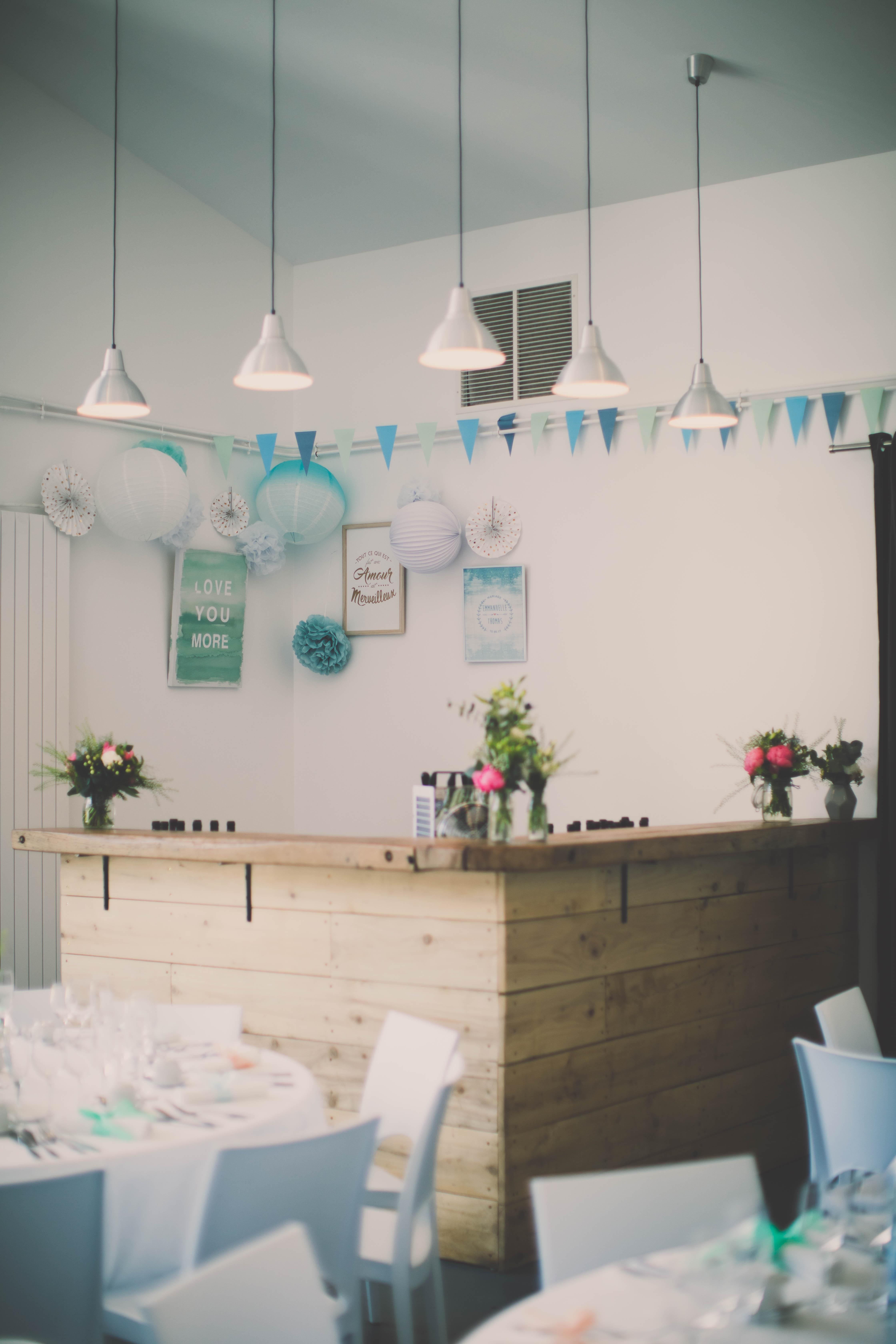 salle de réception intérieur bar