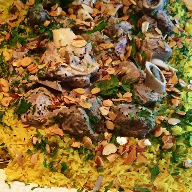 Don't miss ordering the yummy traditional Palestinian dish _Mansaf_ from Mama Lamees#fresh #homemade