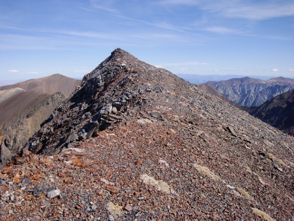 That ridge was way too thin for my first solo summit.