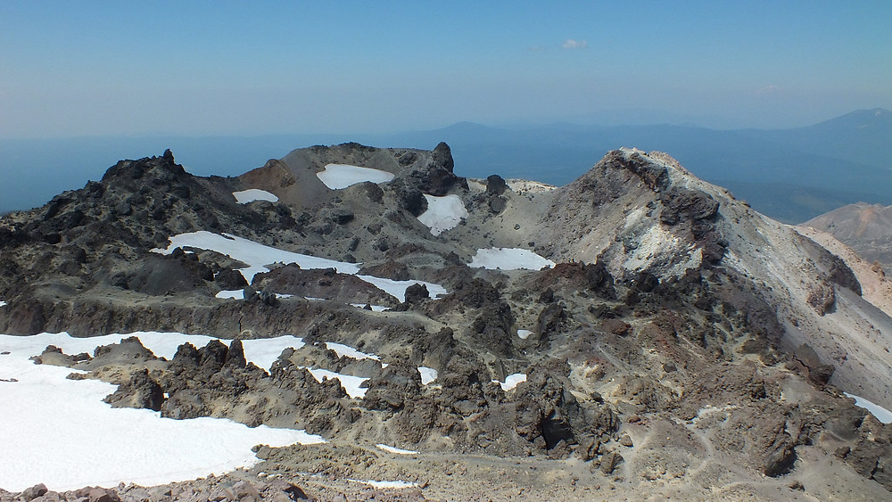 The summit crater.
