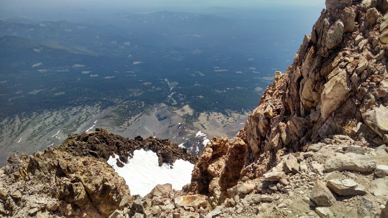 The view down and to the south from the summit.