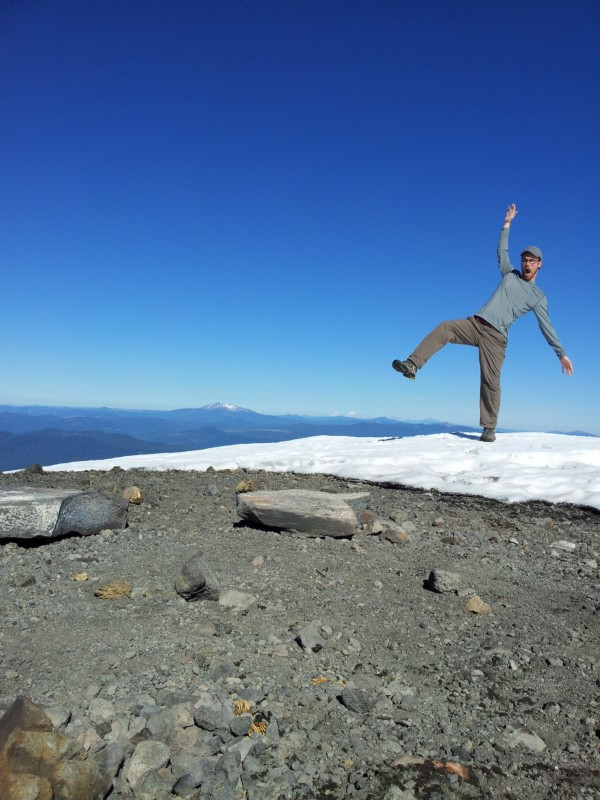 Me, on the summit of Mount Bailey, being strange.