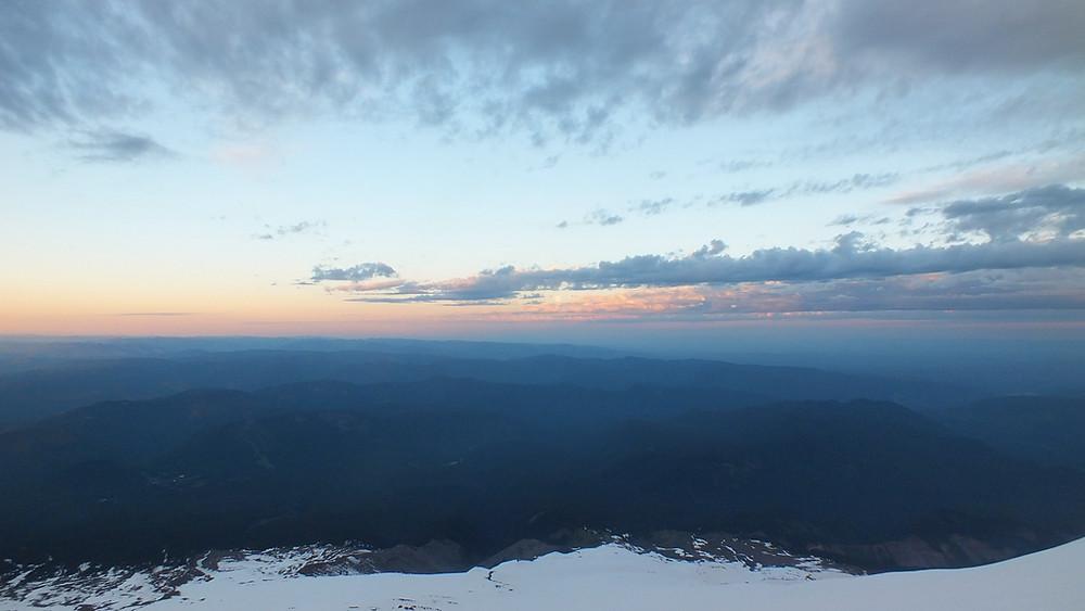 Sunrise at 9,000 feet on Mount Hood.