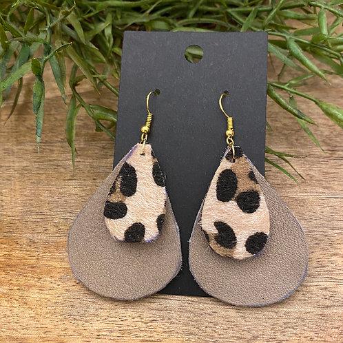 Handmade Leather Earrings #176