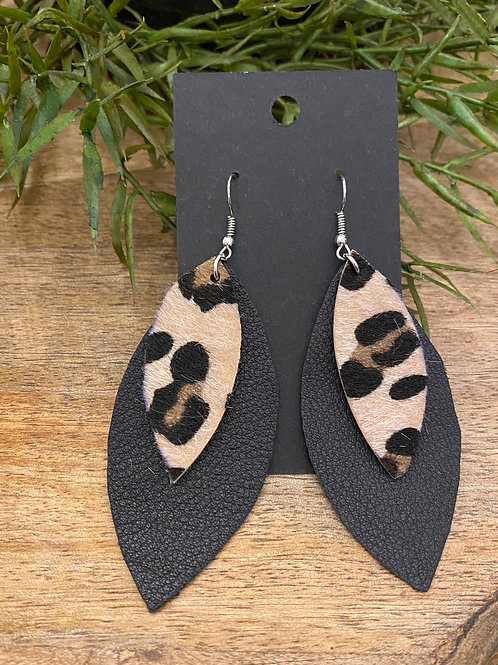 Handmade Leather Earrings #177