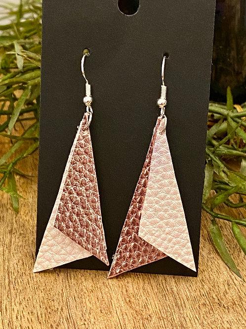 Handmade Leather Earrings #191