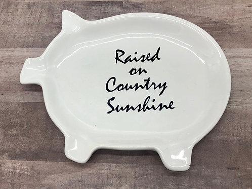 Pig ceramic tray/spoon rest