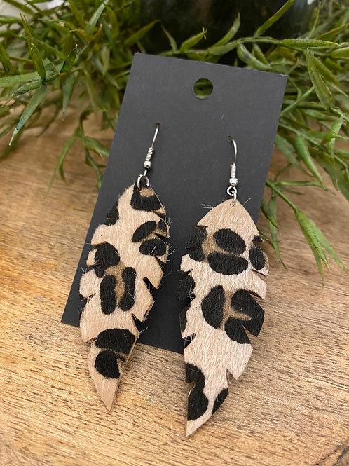 Handmade Leather Earrings #173