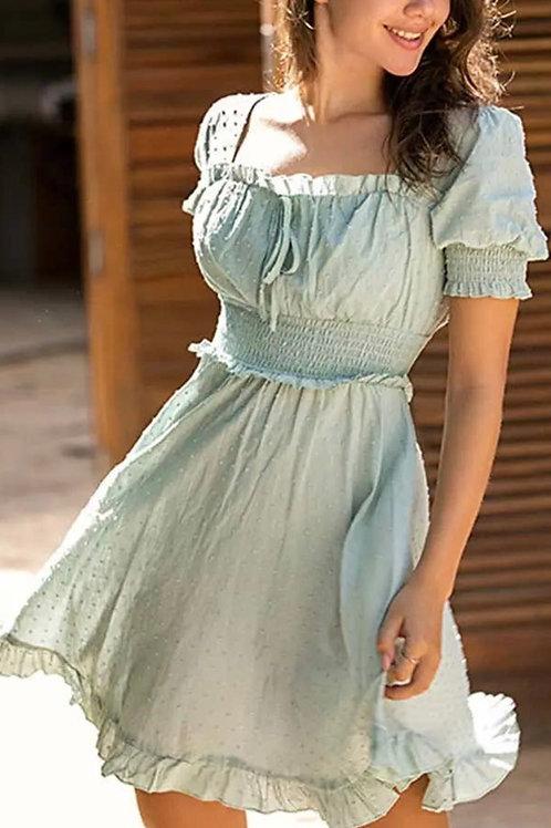 Boho Sage green dress