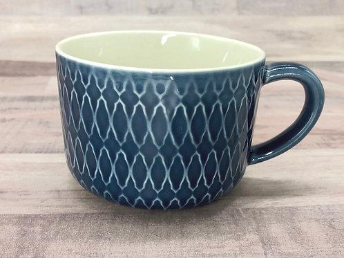 Blue Glaze Pattern Mug