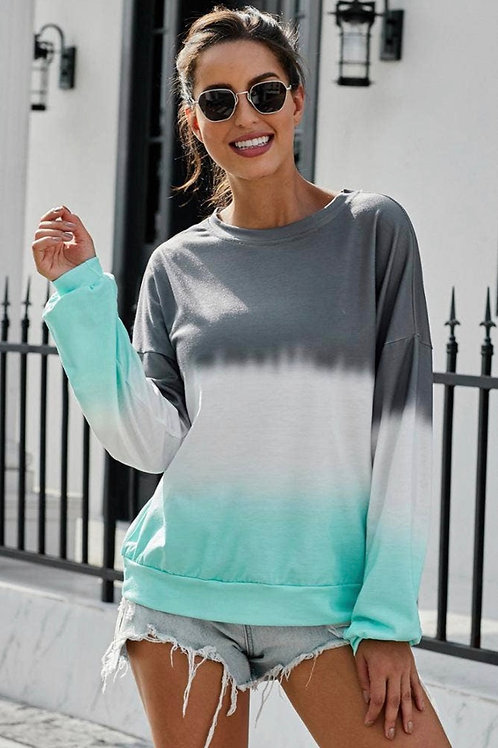 Tie Dye Color block sweatshirt