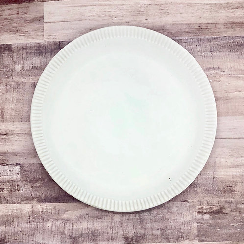 Matte white dinner plate