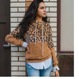 Extra soft leopard hoodie