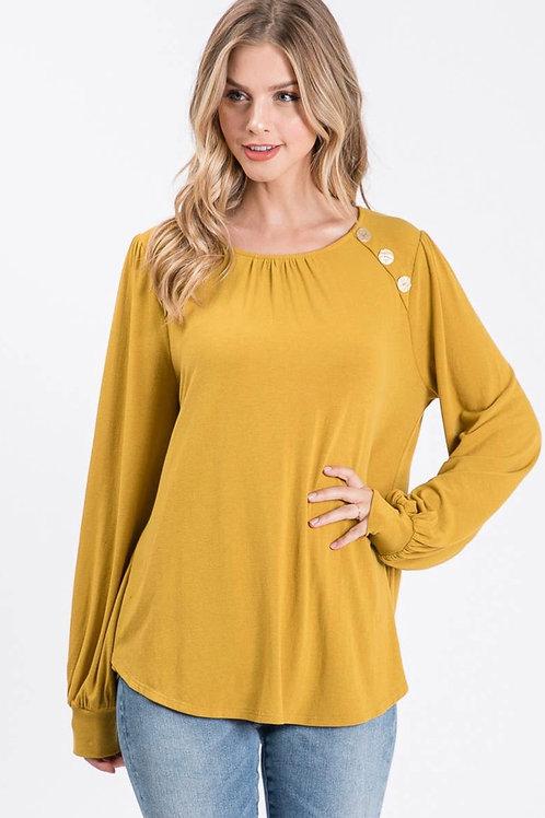 Mustard knit long sleeve