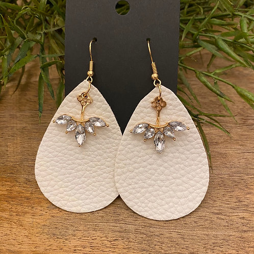 Handmade Leather Earrings #175