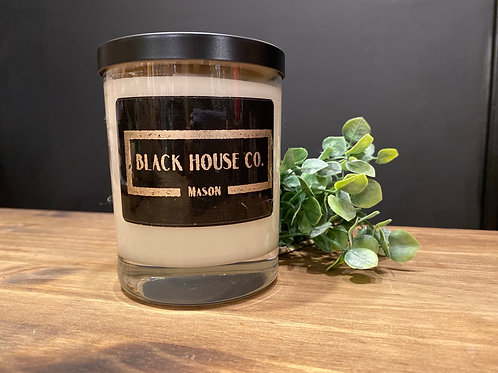 Black label hand poured candle