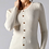 Thumbnail: Ribbed Button Sweater