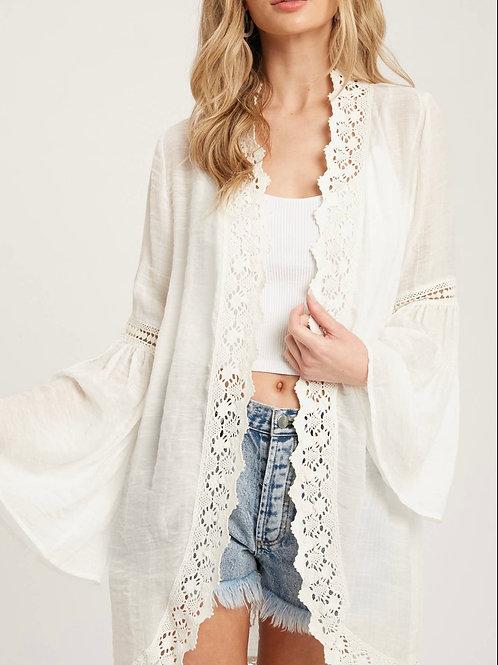 Crochet Bell Sleeve Kimono