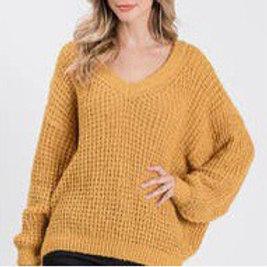 Soft cozy sweater mustard
