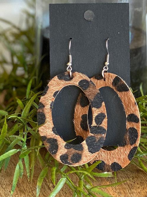 Handmade Leather Earrings #187