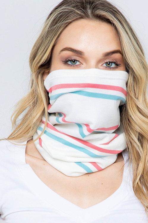 Neck scarf mask light stripe