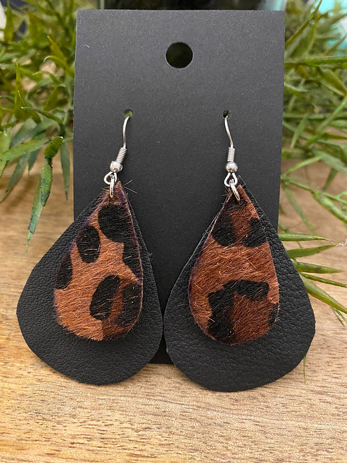 Handmade Leather Earrings #172
