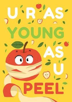 U R AS YOUNG AS U PEEL