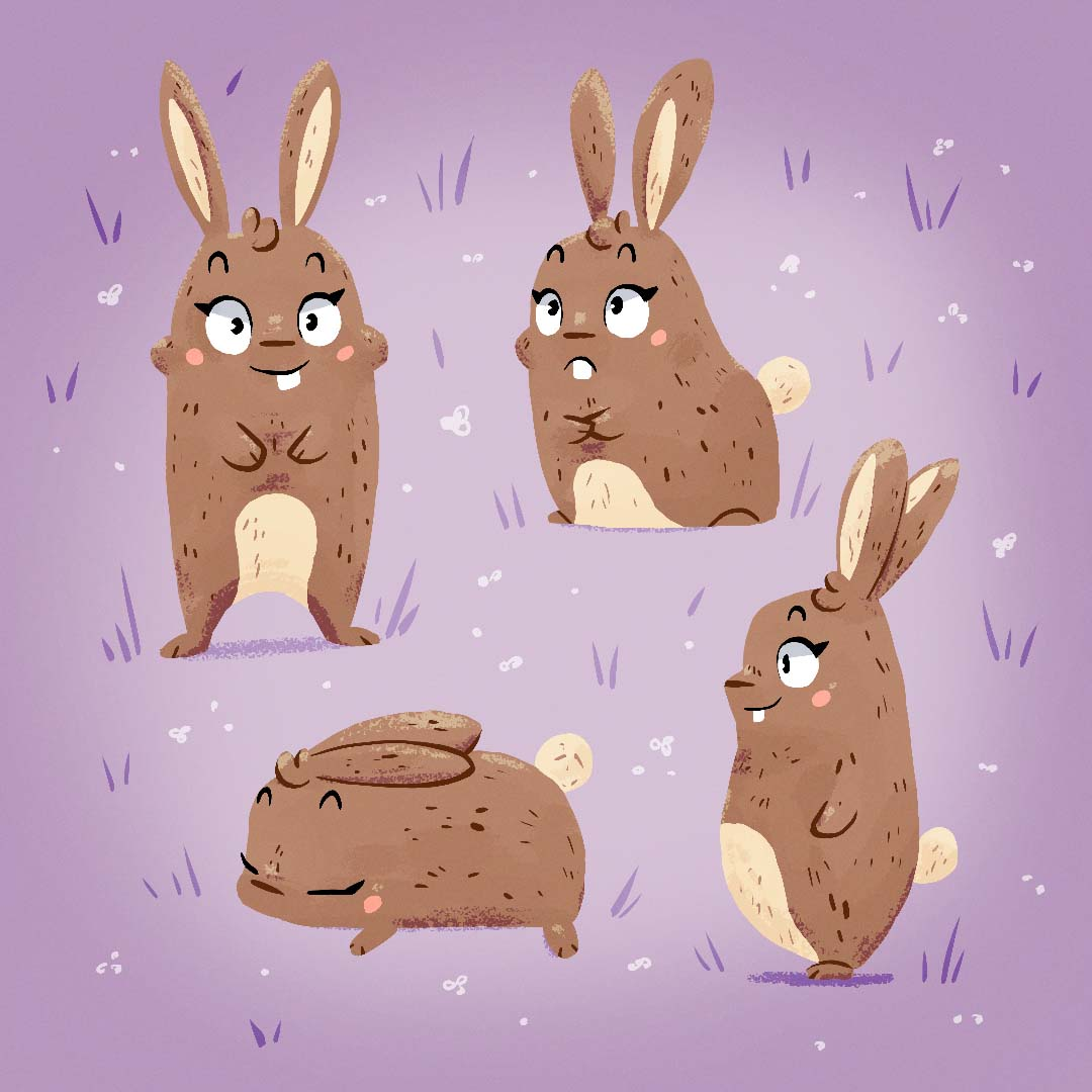 bunny poses