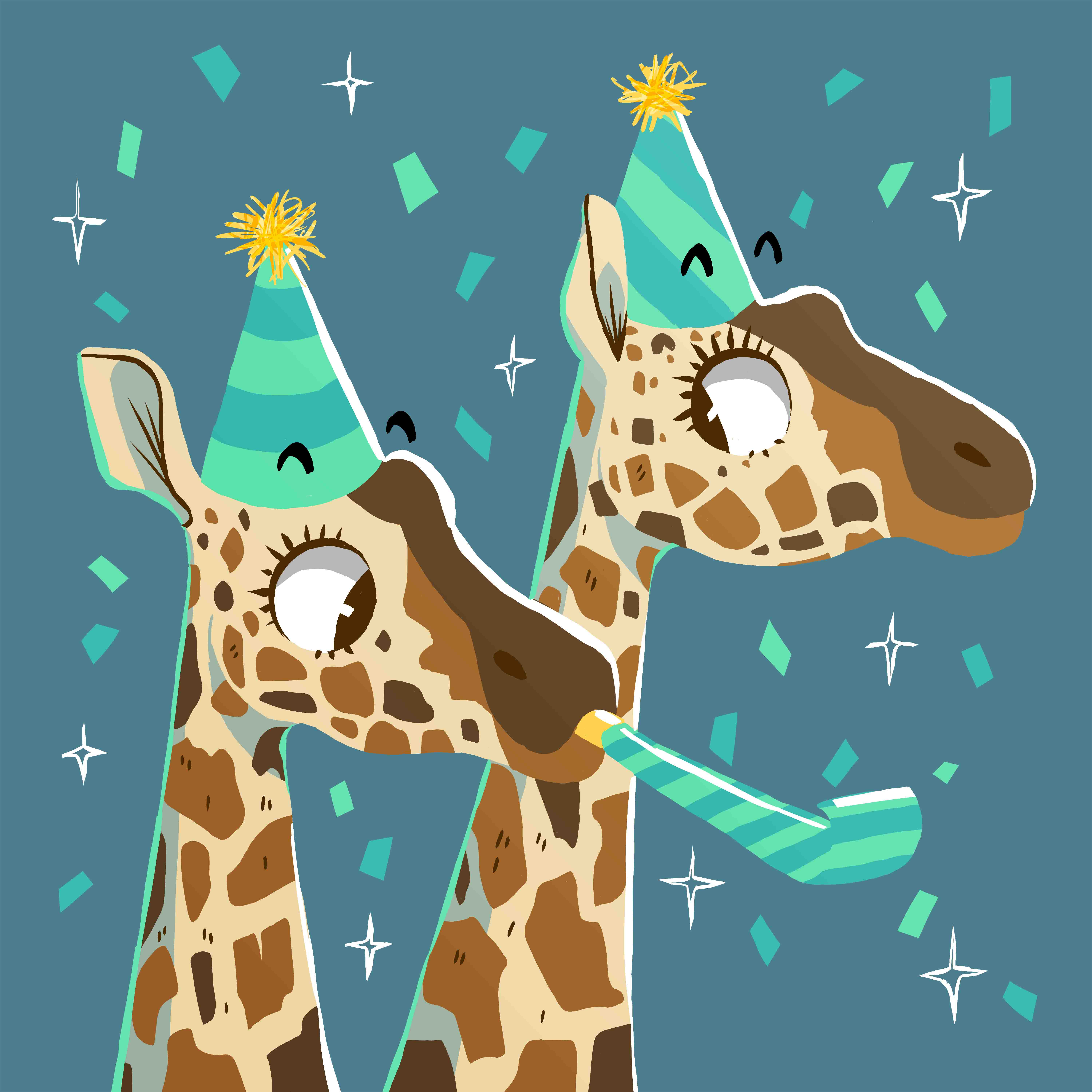 giraffe birthday hat