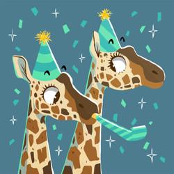 giraffe birthday hat