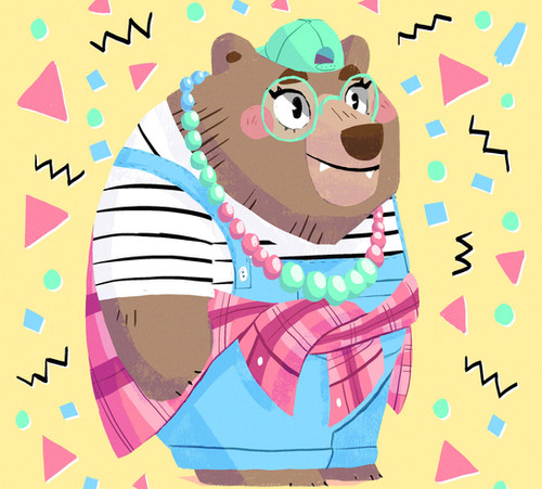 grizzly bear character