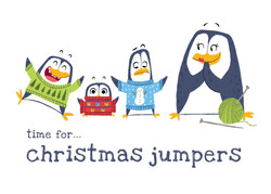 penguin christmas jumpers