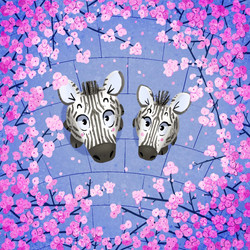 zebra cherry blossom
