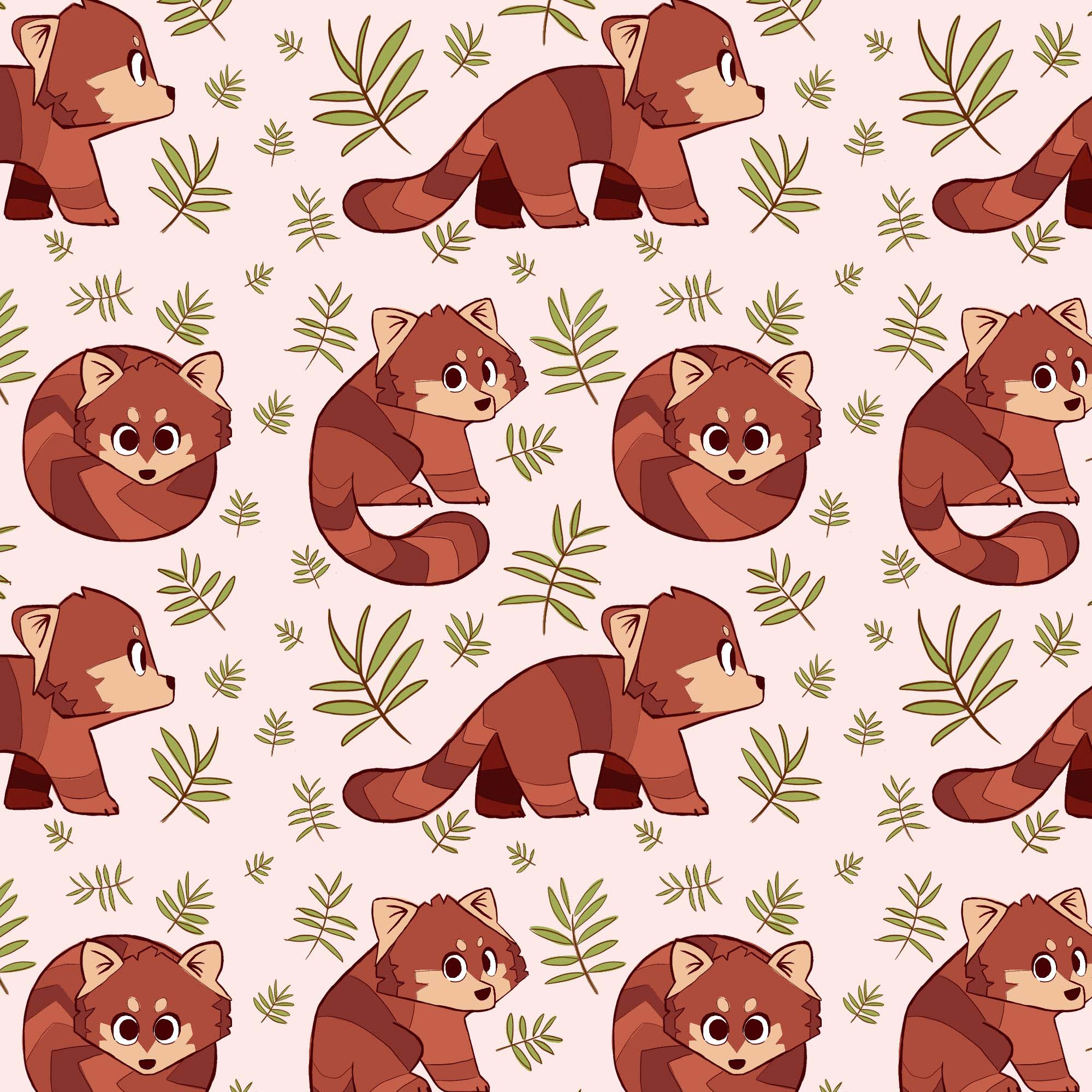 red panda repeat pattern