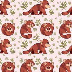 red panda repeat pattern