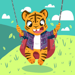 swinging tiger